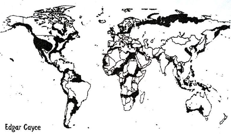 Карта затоплений Эдгар Кейси