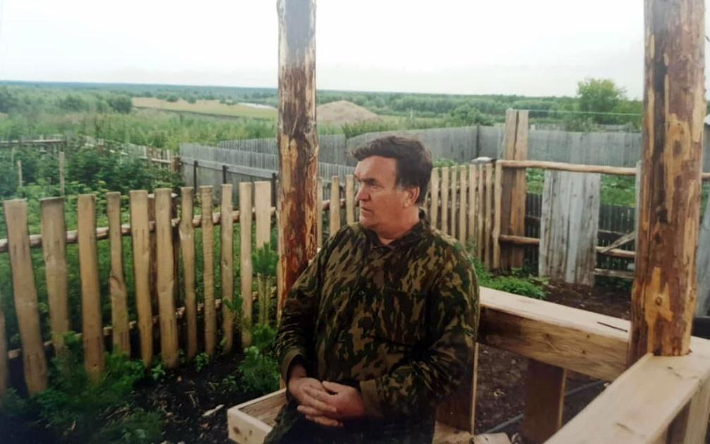 Михаил Речкин в Окунево 1999 г.
