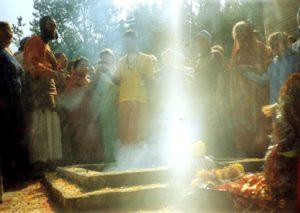 Свечение у часовни в Окунево