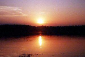 Закат на озере Шайтан